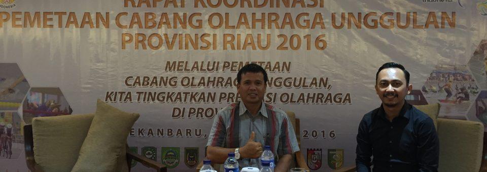 Rapat Koordinasi Pemetaan Cabang Olahraga Unggulan Provinsi Riau 2016