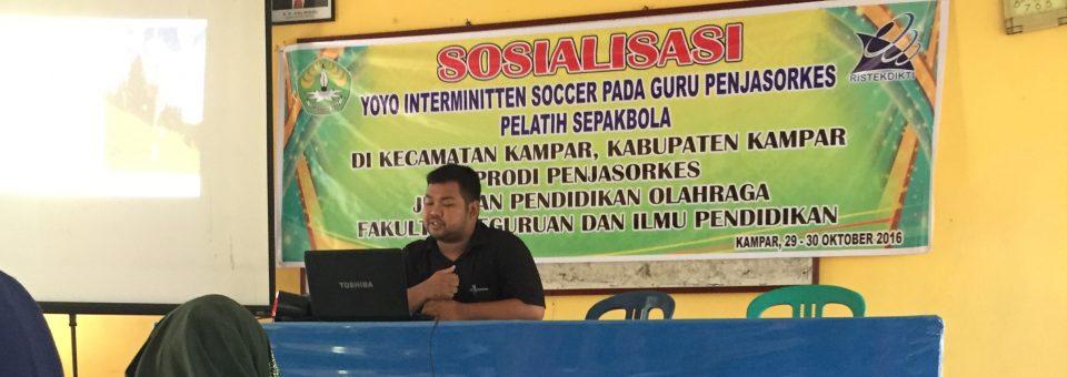 Sosialisasi YOYO Interminitten Soccer Pada Guru Penjasorkes
